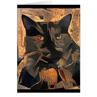 Griechisch-Ähnlicher Katzen-Gruß-Karten-freier