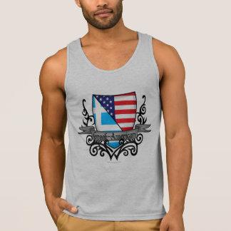 Griechisch-Amerikanische Schild-Flagge Tank Top