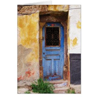 Griechische blaue Tür - Kreta Karte