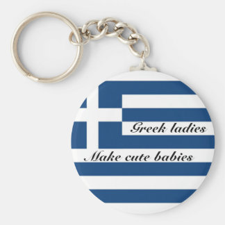 Griechische Damen machen niedliche Babys Schlüsselanhänger
