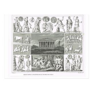 Griechische Festivals und Mythologie Postkarte