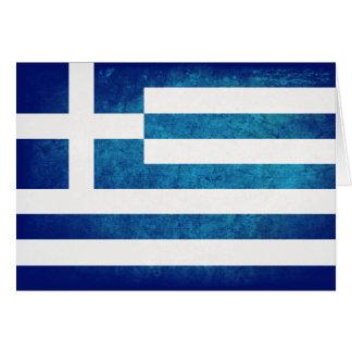 Griechische Flagge Mitteilungskarte