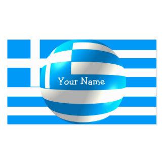 Griechische Flagge mit Blasen-Visitenkarte Visitenkarten