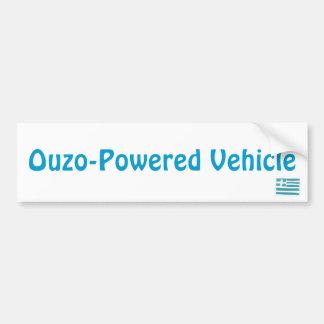 Griechische Flagge, Ouzo-Betriebenes Fahrzeug Autoaufkleber