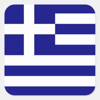 Griechische Flagge Quadratischer Aufkleber