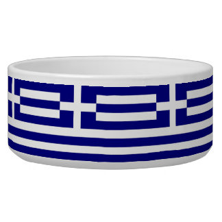 Griechische Flaggen-Haustier-Schüssel Hundenäpfe