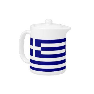 Griechische Flaggen-Teekanne