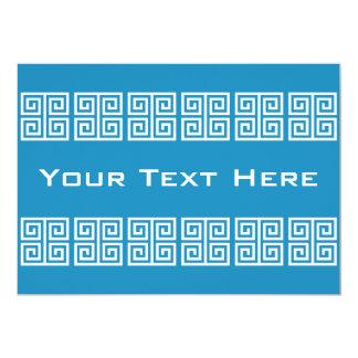Griechische Mustergewohnheitseinladung 12,7 X 17,8 Cm Einladungskarte