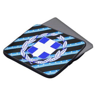 Griechische Streifenflagge Laptop Sleeve