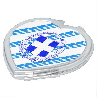 Griechische Streifenflagge Schminkspiegel
