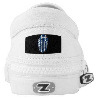 Griechische Touchfingerabdruckflagge Slip-On Sneaker