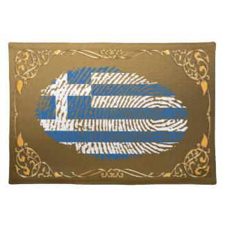 Griechische Touchfingerabdruckflagge Stofftischset