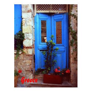 Griechische Tür Postkarte