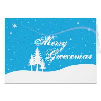 Griechische Weihnachtskarte - lustig - fröhliches Karte
