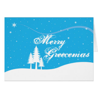 Griechische Weihnachtskarte - lustig - fröhliches Mitteilungskarte