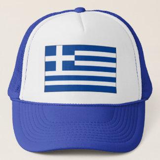Griechischer Flaggen-Hut - stolz, griechisch zu Truckerkappe