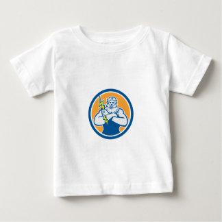 Griechischer Gott Zeuss bewaffnet Retro den Baby T-shirt