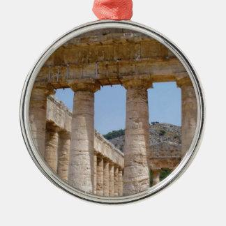 griechischer Marmor Silbernes Ornament