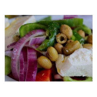Griechischer Salat Postkarte