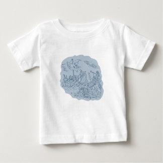 Griechischer Trireme-Navigator, der Sirenen D Baby T-shirt