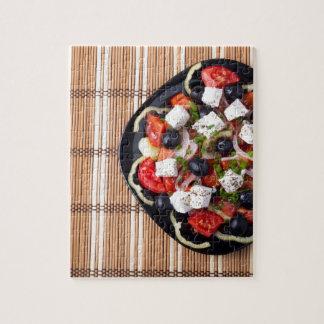 Griechischer vegetarischer Salat der Tomaten, Puzzle