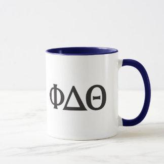 Griechisches Buchstabe-Schwarzes Tasse