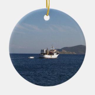 Griechisches Fischerboot Keramik Ornament