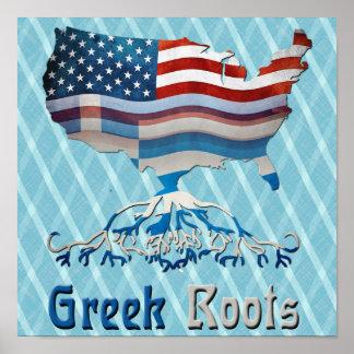 Griechisches Flagge-Plakat Poster