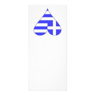 Griechisches Flaggen-Herz flippig Werbekarte