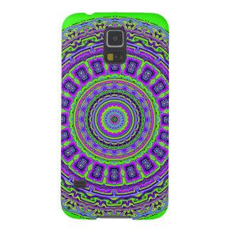 Griechisches Fliesen-Kaleidoskop mit Neongrün Galaxy S5 Hülle