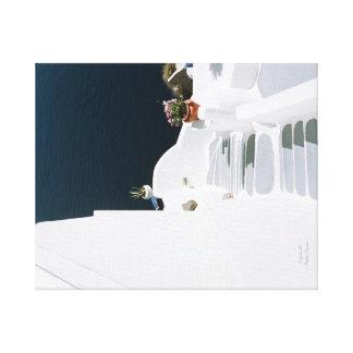 Griechisches Insel santorini Leinwanddruck