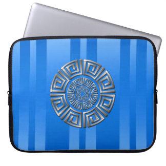 Griechisches Kreis-Motiv Laptopschutzhülle