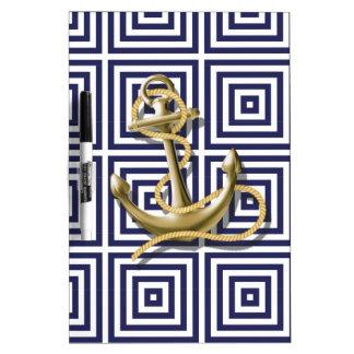 Griechisches Muster des Marine-Blaus adretter Memoboard