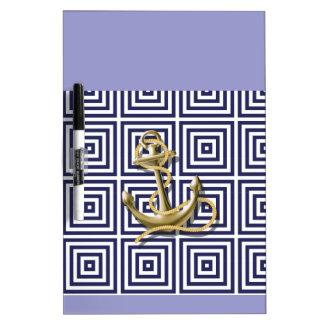 Griechisches Muster des Marine-Blaus adretter Trockenlöschtafel