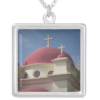Griechisches orthodoxes Kloster 2 Versilberte Kette