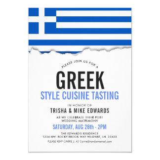 Griechisches Themed Party-Flaggen-Weiß des Karte