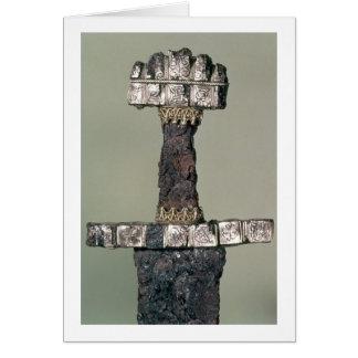 Griff einer Viking-Klinge fand bei Hedeby, Karte