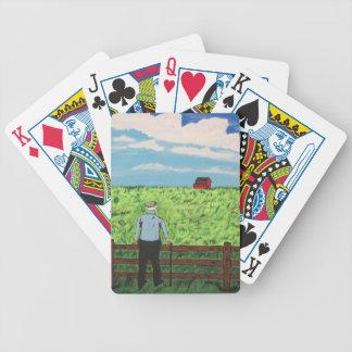 Griff und die rote Scheune Bicycle Spielkarten