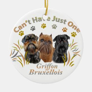 Griffon Brüssel kann gerade ein nicht haben Keramik Ornament