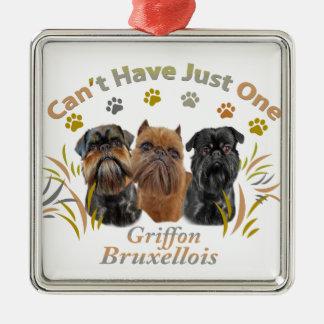 Griffon Brüssel kann gerade ein nicht haben Silbernes Ornament