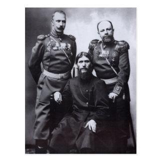 Grigori Rasputin General Putyatin Oberst Lotman Postkarte