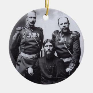 Grigori Rasputin General Putyatin Oberst Lotman Rundes Keramik Ornament