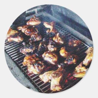 Grill-Huhn Runder Aufkleber