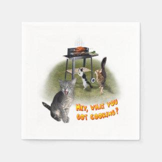 Grill-Katzen Papierserviette