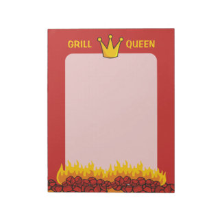 Grill-Königin-Krone Notizblock