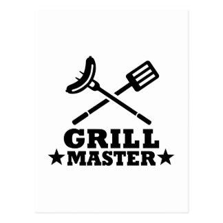 Grill-Meister Postkarte