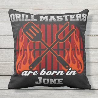 Grill-Meister sind im Juni geboren Kissen