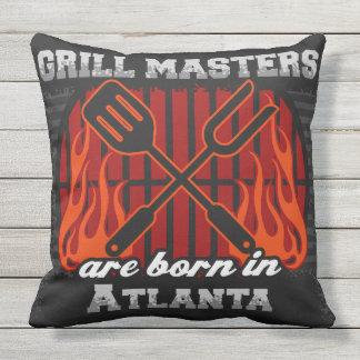 Grill-Meister sind in Atlanta geboren Kissen Für Draußen