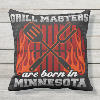 Grill-Meister sind in Minnesota geboren Kissen Für Draußen