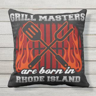 Grill-Meister sind in Rhode Island geboren Kissen Für Draußen